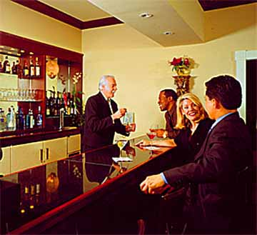 Guest Bar at the Iberville Suites